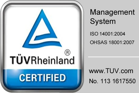 Novotema is certified to OHSAS18001